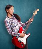 Asian Girl With Guitar