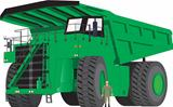 Green Dumper Truck
