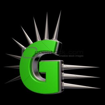 prickles letter g