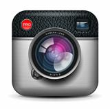 Vintage photo camera icon, vector Eps10 illustration.