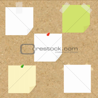 Cork Texture With Blank Note Tag