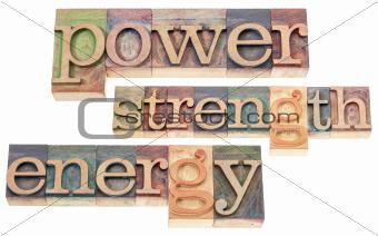 power, strength, energy words