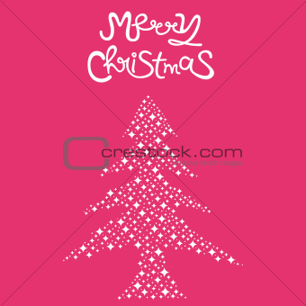 Abstact Christmas Tree Background