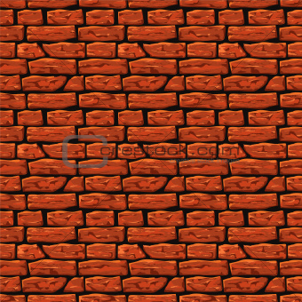 Background of brick wall texture, vector Eps8 illustration