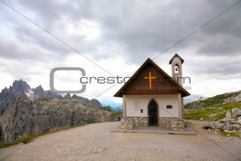 Mountain church Dolomities, Dolomiti - Italy