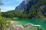 Beautiful, colour lake Lago di Braies in Dolomiti Mountains 4 -