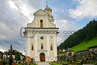 "Church and cemetery of the Sesto ""sexten"" - Italian Dolomite 2"