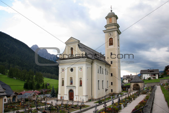 "Church and cemetery of the Sesto ""sexten"" - Italian Dolomite"