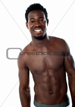 Shirtless young man posing in underwear