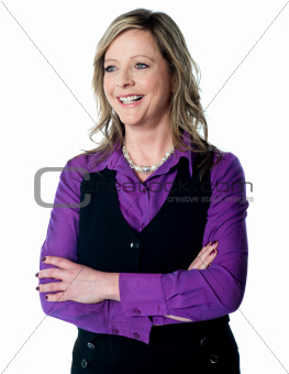 Portrait of beautiful corporate lady, smiling