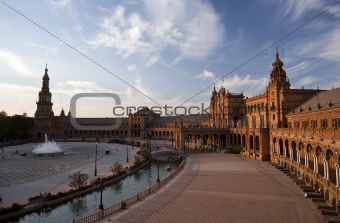 Plaza Espana at sunset