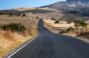 asfalt road in Andalucia