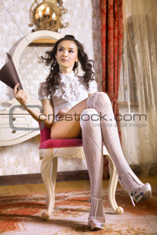 girl in armchair