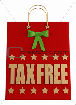 Tax free  christmas shopping bag