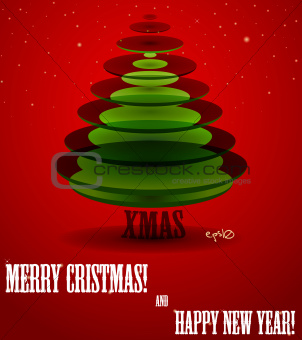 Poster with abstract X-mas tree.