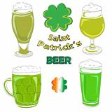 saint patrick beer pints