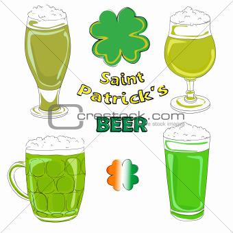 saint patrick beer pints