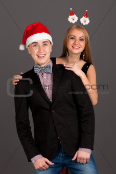 Fun portrait of man and woman