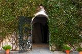 charming entrance to Spanish house