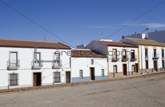 typical buildings in Spanish small towns
