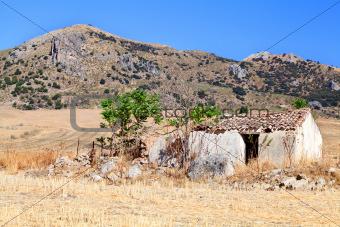 old destroyed villa in Spain