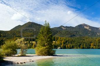 Walchensee in Bavarian Alps