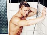 Relaxing with a hot shower