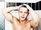 Washing his hair