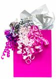 Pink gift bag