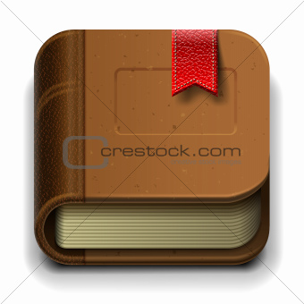 Ebook icon, vector Eps10 illustration.