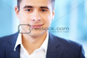 Face of businessman