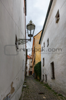 Old street in Cesky Krumlov, Czech Republic.