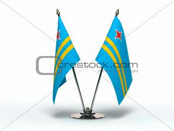 Miniature Flag of Aruba (Isolated)