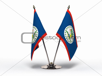 Miniature Flag of Belize (Isolated)
