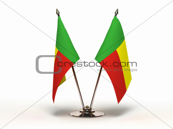Miniature Flag of Benin (Isolated)