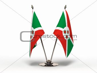 Miniature Flag of Burundi (Isolated)