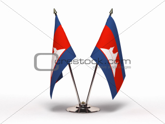 Miniature Flag of Cambodia (Isolated)