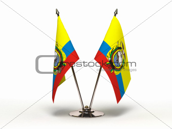 Miniature Flag of Equador (Isolated)