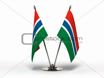 Miniature Flag of Gambia (Isolated)