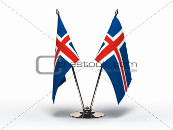 Miniature Flag of Iceland (Isolated)