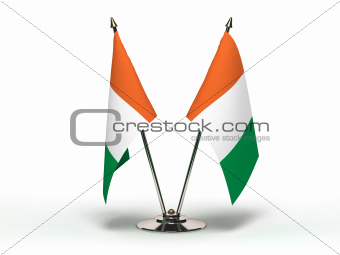 Miniature Flag of Ivory Coast (Isolated)