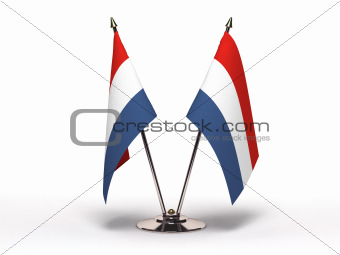 Miniature Flag of Luxembourg (Isolated)