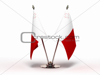 Miniature Flag of Malta (Isolated)