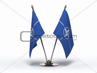 Miniature Flag of NATO(Isolated)