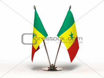 Miniature Flag of Senegal (Isolated)