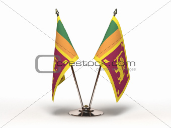 Miniature Flag of Sri Lanka (Isolated)