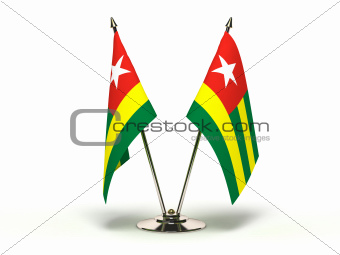 Miniature Flag of Togo (Isolated)