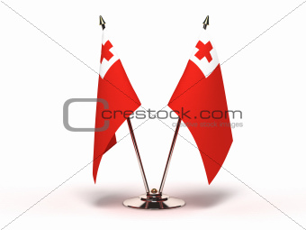 Miniature Flag of Tonga (Isolated)