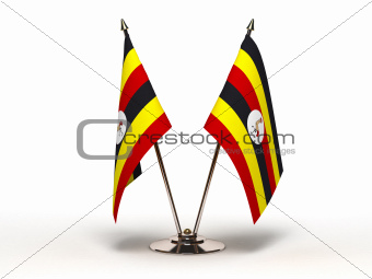 Miniature Flag of Sri Uganda (Isolated)