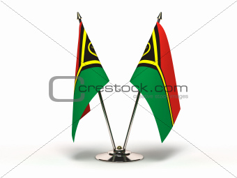Miniature Flag of Vanuatu (Isolated)